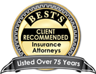 Best's Client Recommended Insurance Attorneys Listed Over 75 Years